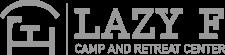 Lazy F Logo in White